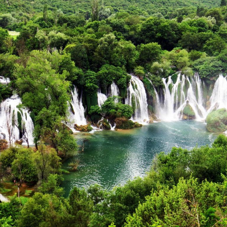 Kravice Waterfallsin Bosnia