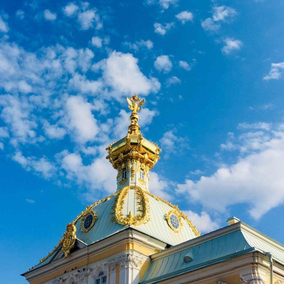 Palace Peterhof roof detail
